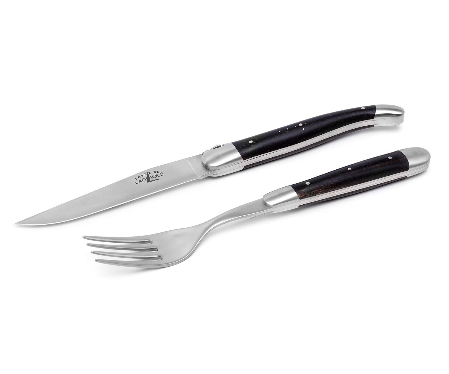 Forge de Laguiole Steak-Set 2-tlg, Ebenholz