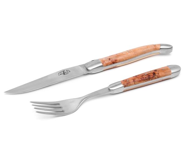 Bild von Forge de Laguiole Steak-Set 2-tlg, Wacholder