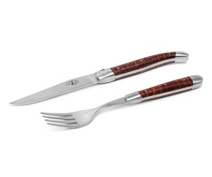 Forge de Laguiole Steak-Set 2-tlg, Amourette 001