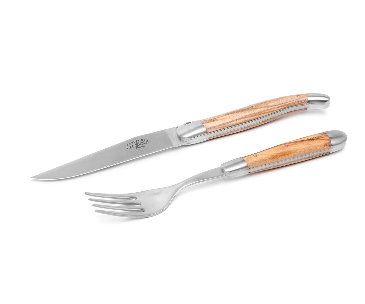 Forge de Laguiole Steak-Set 2-tlg, Olive