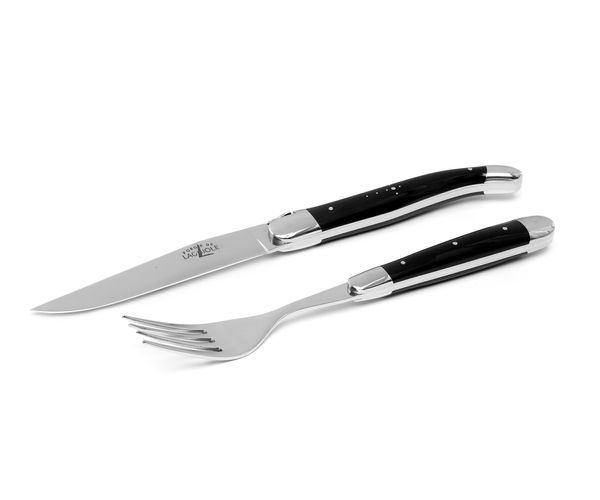 Forge de Laguiole Steak-Set 12-tlg, Horn