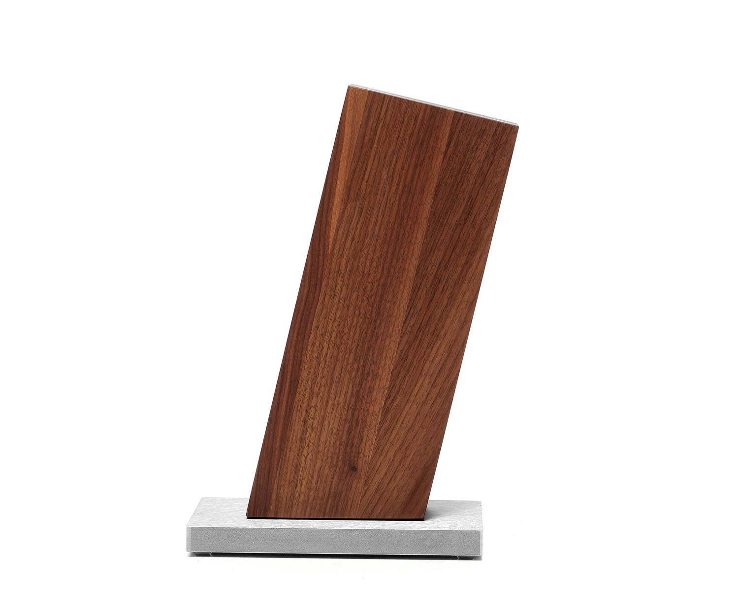 Blockwerk Messerblock 13 Grad geneigt, Nussbaum – Bild 2