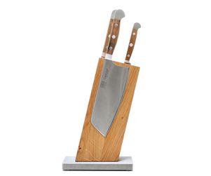 Güde Messer-Set 3-tlg. & Blockwerk 13 Grad, Eiche 001