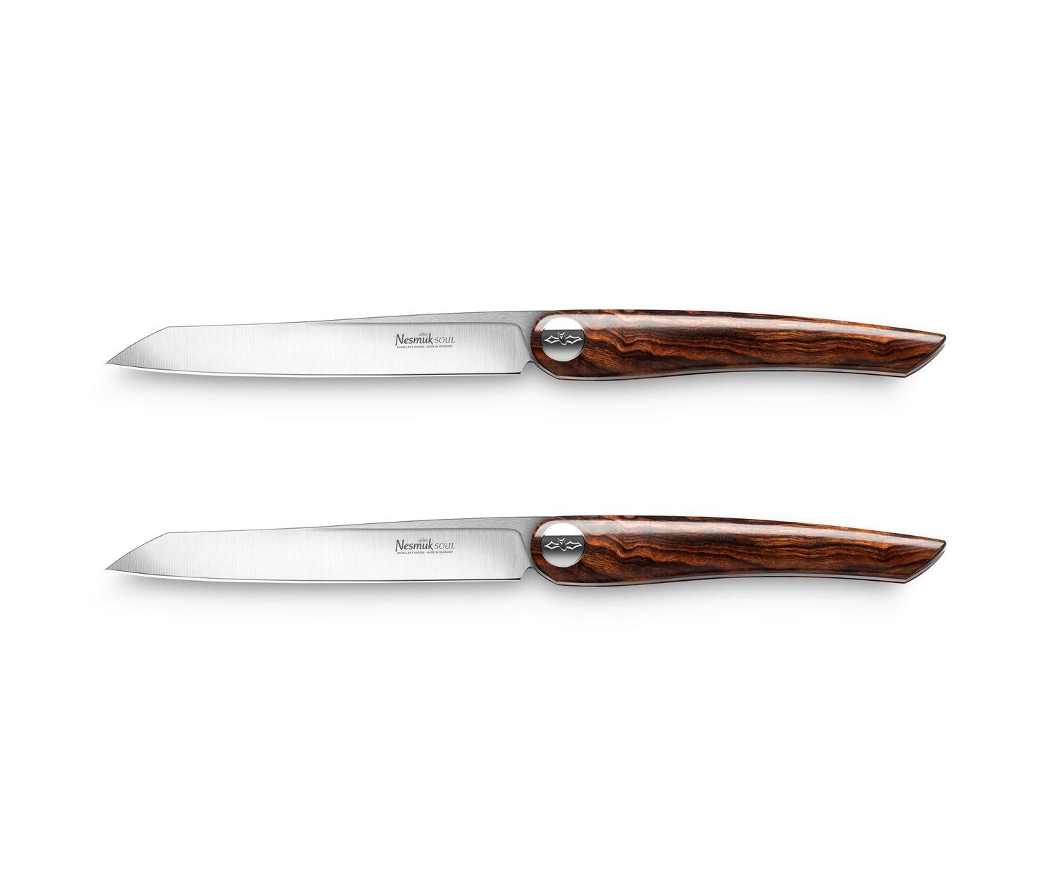 Nesmuk Steakmesser Wüsteneisenholz, 2 Stk, Soul