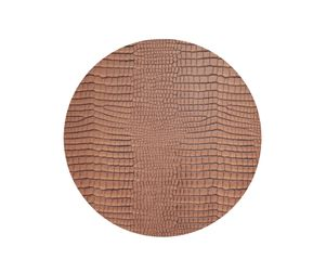 Lind Dna Tischset Circle Xl, Croco Cognac 001